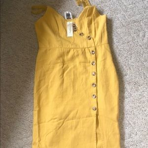 Fransesca's Button Slit Dress